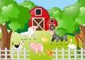 Farm animals living the farmyard Royalty Free Stock Photo