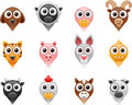 Farm animals pointer icons vector illustration of separate layers for easy editing Stock Image
