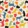 Farm animals seamless pattern Stock Image