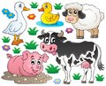 Farm animals set eps vector illustration Royalty Free Stock Photo