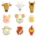 Farm animals set vector this is file of eps format Royalty Free Stock Image