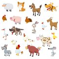 Farm animals set for web design Stock Images