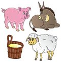 Farm animals theme collection Stock Image