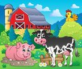 Farm animals theme image eps vector illustration Stock Image
