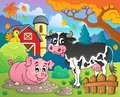 Farm animals theme image eps vector illustration Stock Photography