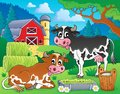 Farm animals theme image eps vector illustration Stock Photo