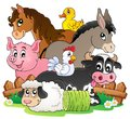 Farm animals topic image eps vector illustration Royalty Free Stock Photo