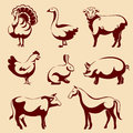 Farm animals vector illustration of Royalty Free Stock Photos