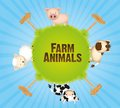 Farm animals in world Royalty Free Stock Image