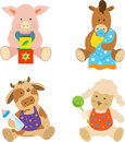 Farm babies cute vector set of animals eps Stock Photo