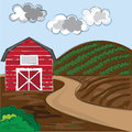 Farm background Royalty Free Stock Photo