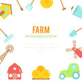 Farm background. Cartoon elements of farming.