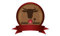 Farm badge logo a or for livestock business company website etc Stock Photos