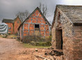 Farm buildings england traditional english shropshire Stock Image