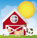 Farm cartoon Stock Photo