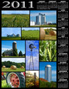 Farm collage calendar Royalty Free Stock Photography