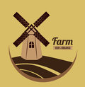 Farm design over brown background vector illustration Royalty Free Stock Images