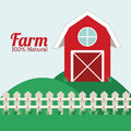 Farm design over landscape background vector illustration Royalty Free Stock Image