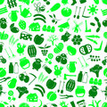 Farm and farming big simple color icons seamless green pattern eps10 Royalty Free Stock Photo