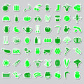 Farm and farming big simple color stickers set vector eps10 Royalty Free Stock Photo
