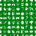 Farm and farming simple icons set vector seamless pattern eps10 Royalty Free Stock Photo