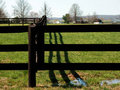 Farm fence Royalty Free Stock Photos