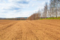 Farm field in the spring time poland Royalty Free Stock Images