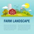 Farm flat Landskape