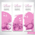 Farm fresh berries banners. Hand drawn berries. Blueberry, black currant and rose hip