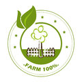 Farm fresh label over white background vector illustration Stock Photos