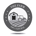 Farm fresh label over white background vector illustration Royalty Free Stock Photos