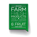Farm fresh product label Royalty Free Stock Photo