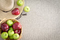 Farm fresh red and green apples Royalty Free Stock Photo
