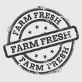 Farm fresh rubber stamp isolated on white.
