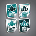 Farm fresh sticker stickers set Stock Photo