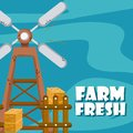 Farm fresh cartoons Royalty Free Stock Photo