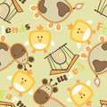 Farm friends with cow and bird seamless pattern Royalty Free Stock Photography