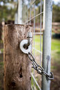 Farm Gate Lock Royalty Free Stock Photo