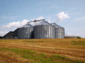 Farm grain silo agriculture production image Royalty Free Stock Photo