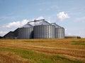 Farm grain silo Royalty Free Stock Photo