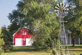 Farm house country scene landscaped Royalty Free Stock Photo