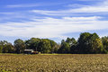 Farm House Plowed Field Royalty Free Stock Photo