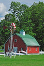 Farm house in the usa Royalty Free Stock Photo