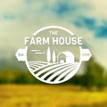 Farm House vector logo. Royalty Free Stock Photo