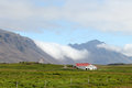 Farm in iceland summer landscape with local at highland Stock Photos