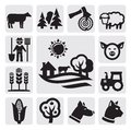 Farm icon Royalty Free Stock Images