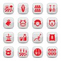 Farm icon set Royalty Free Stock Image