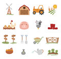 Farm Icons Stock Image