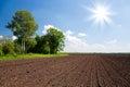 Farm land field Royalty Free Stock Photography
