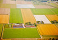 Farm landscape from above, The Netherlands Royalty Free Stock Photo